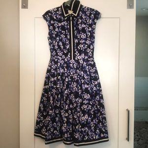 Kate Spade Button Cotton Hydrangea Dress Size S